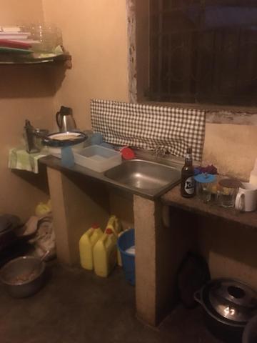 The school kitchen.