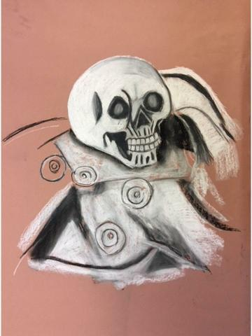 Chalk and charcoal (Molly)
