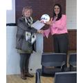 Sue Davies presenting our IIFs plaque!