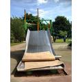 Wow! It's a giant slide!