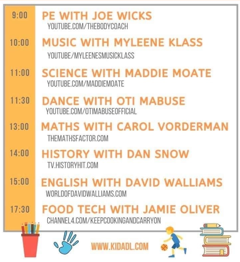 Have a look at this picture which shows where to find free celebrity classes this week!