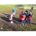 Splashing in muddy puddles