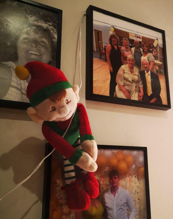 That's how the cheeky elf got into her house, he zip lined in!