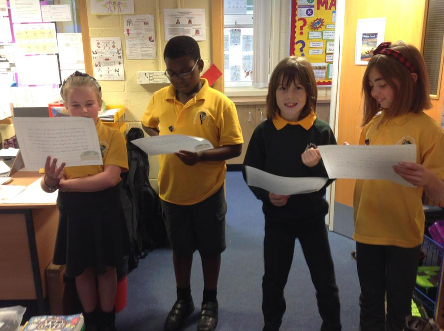 Maple class wrote radio adverts for the Swindon Food Collective
