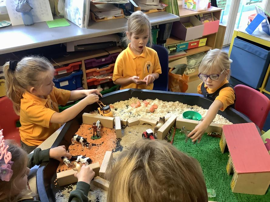 Cherry class explored different ways of harvesting in our small world farm.