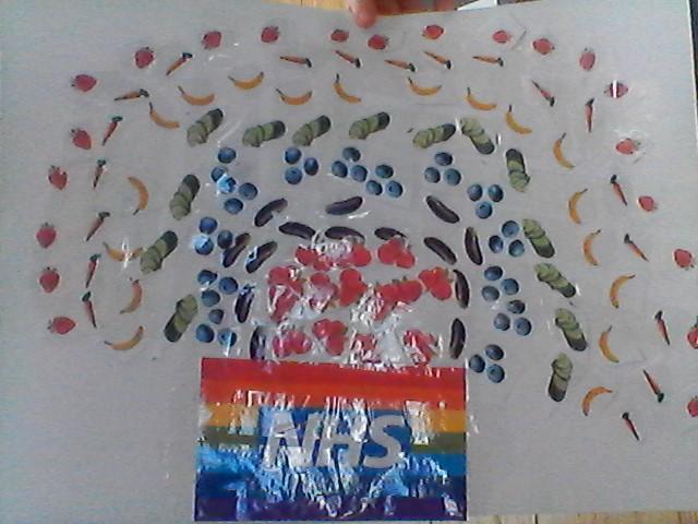 Millie's fruit and veg rainbow for hope