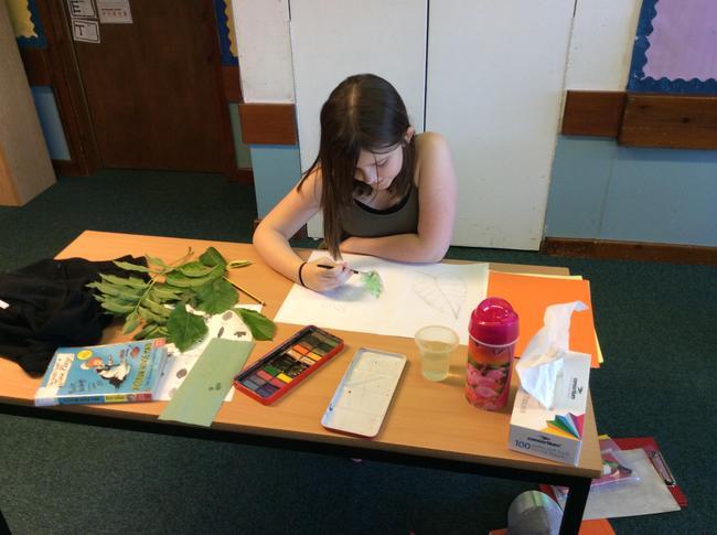 Children developing new skills at school