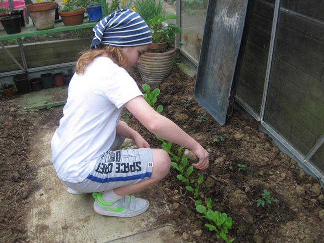 Children developing new skills at home