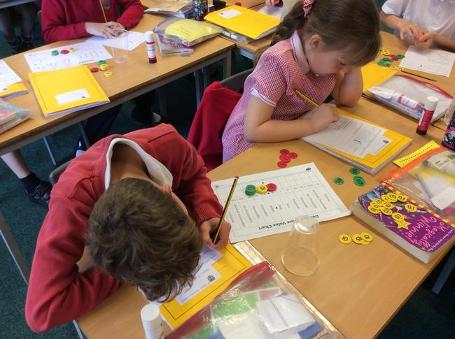 Year 4 had a very interesting maths session using place value counters. Look at how amazing we are! 3