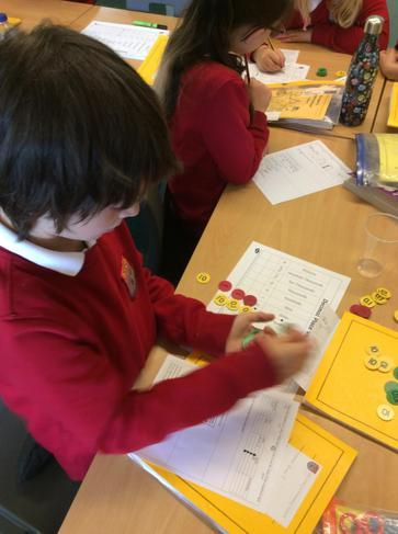 Year 4 had a very interesting maths session using place value counters. Look at how amazing we are! 4
