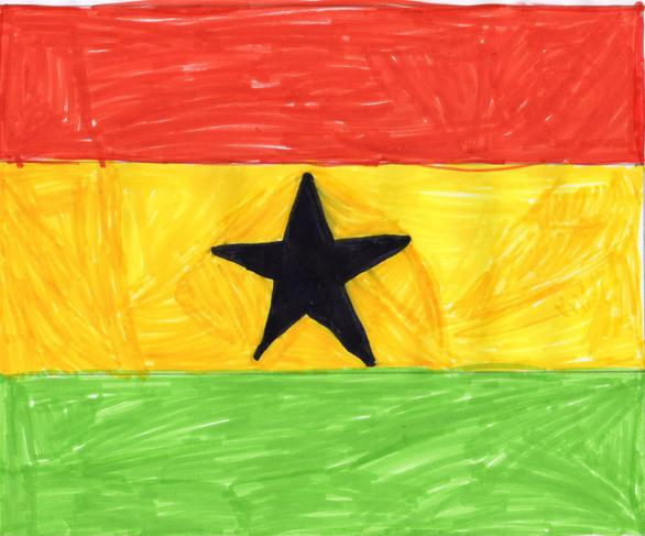 Theo S's Ghana flag for St Mary's Olympics