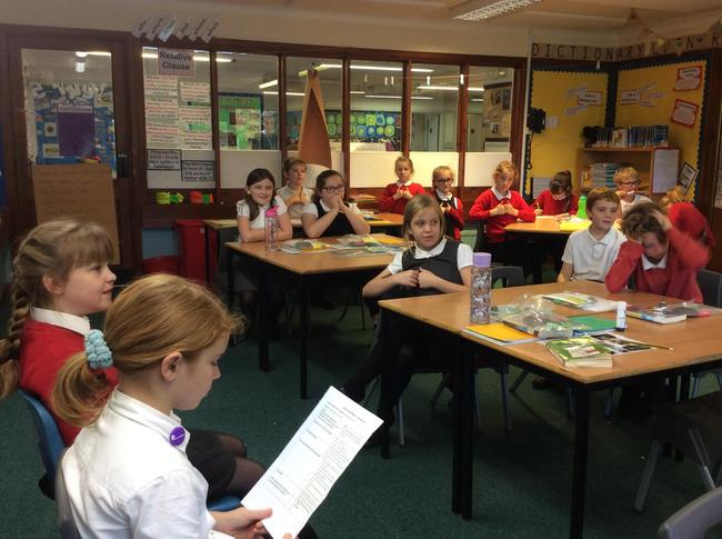 Our School Councillors, leading a class discussion