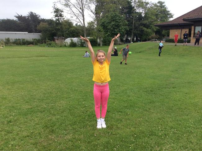 Jess taking part in St Mary's Olympics