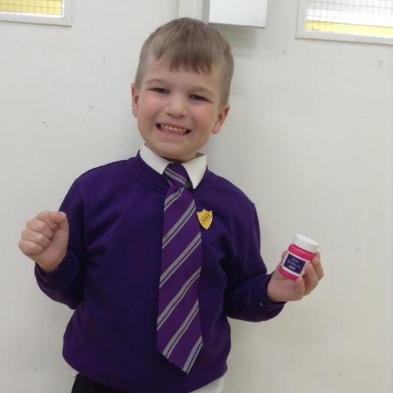 Well done for coming to school with a smile every day!