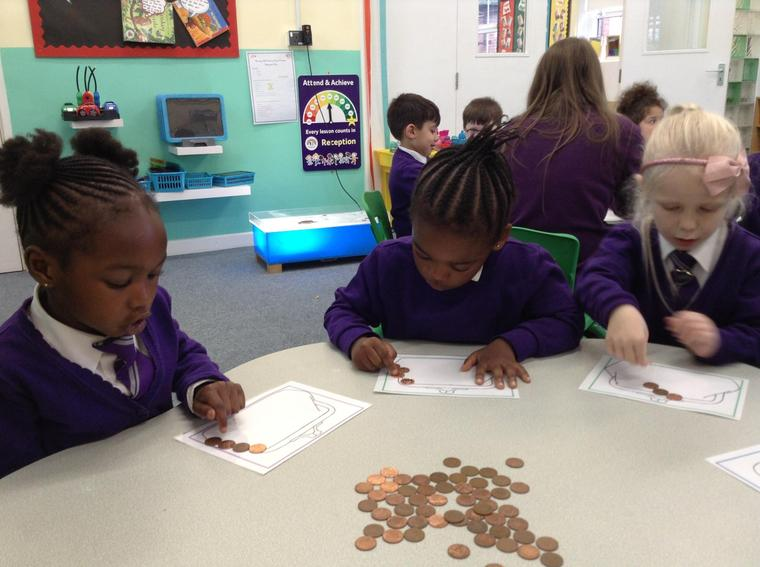 We used the 1p's to count them out.