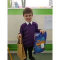 We had to choose items for our packed lunch!