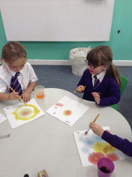We mixed food colouring with water...