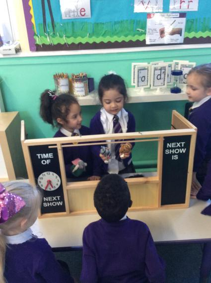 We acted out the story using puppets