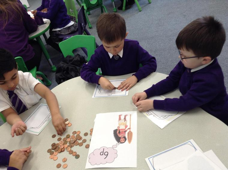 We counted the 1p's and remembered to stop at 6p.