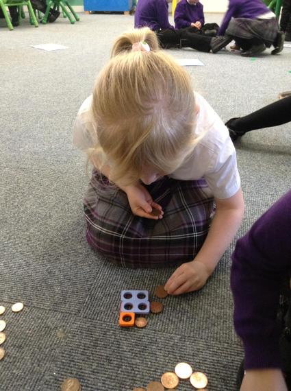 I made 5p using a 2p, 2p and a 1p!