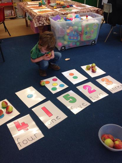 The Harvested Fruits are used in number work
