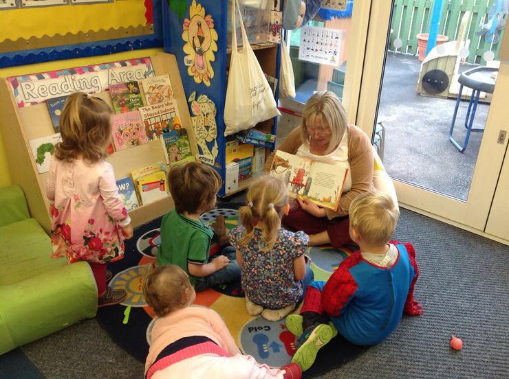 All the children listen with interest