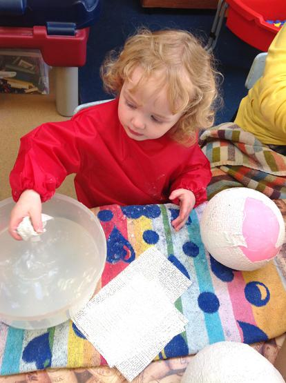 Imogen makes a ladybird home with mud rock