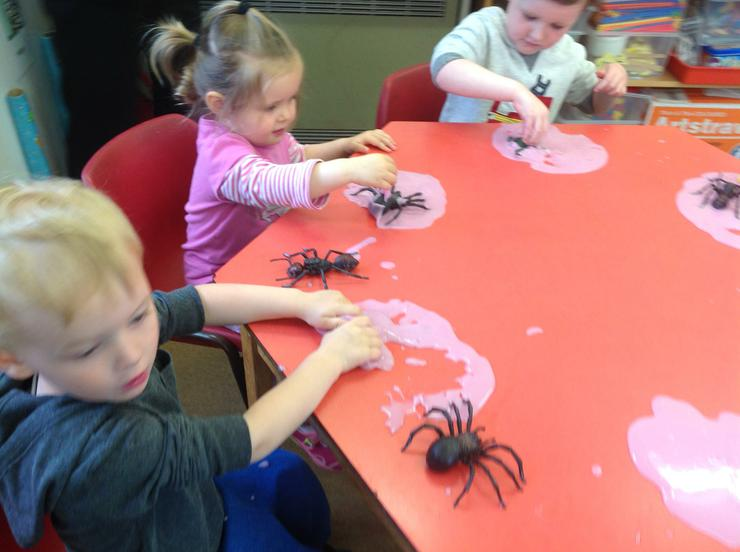Lovely flubber and spiders