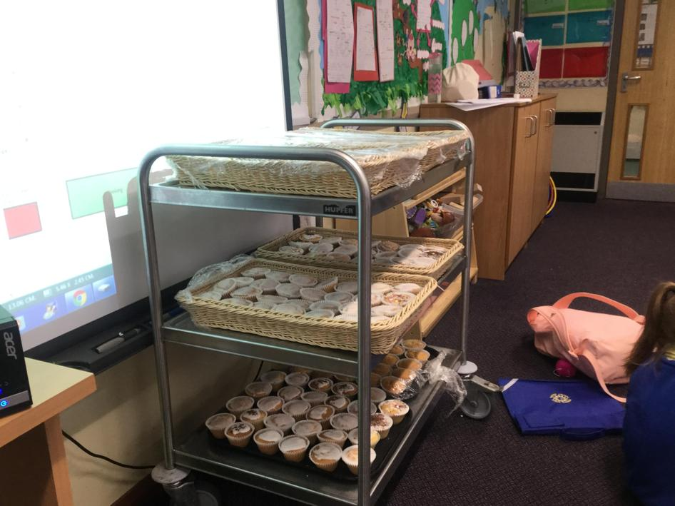 Year One have baked cakes for our STEAM project.