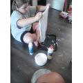 Making slime.