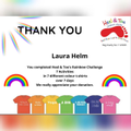 Miss Helm has been raising money for charity.