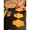 Eva's finished gingermen biscuits