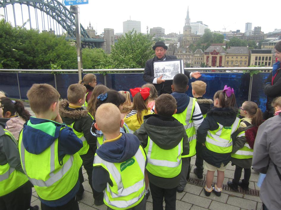 Richard told us all about the Great Fire.