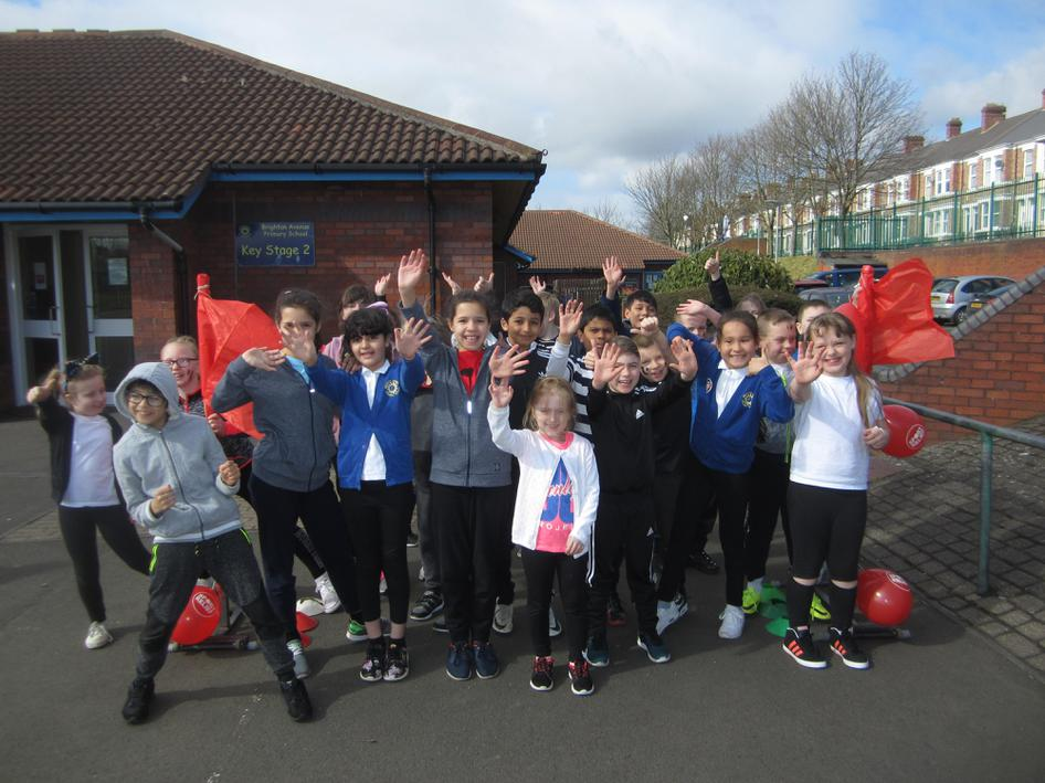 Year 4 doing their bit for Sport Relief
