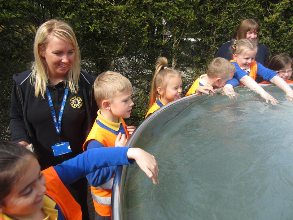 We loved exploring the water features!