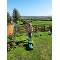She has even been doing a bit of gardening.