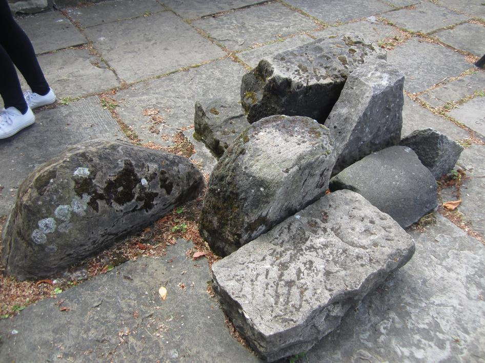 These stones were from the the three explosions.