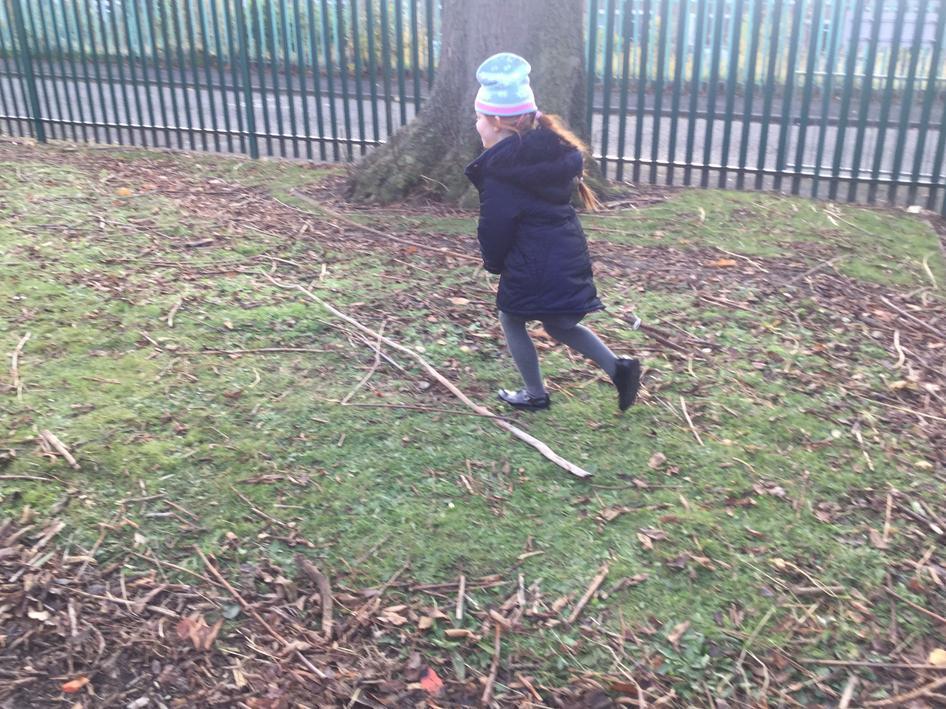 Zoom! I am flying on my broom!