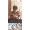 Aswhin's knitting skills