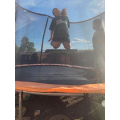 Jumping on the trampoline!