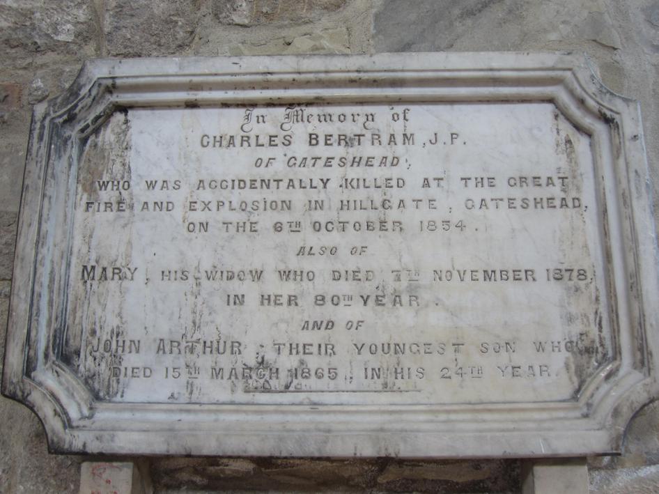 Charles Bertrum died in the explosion.