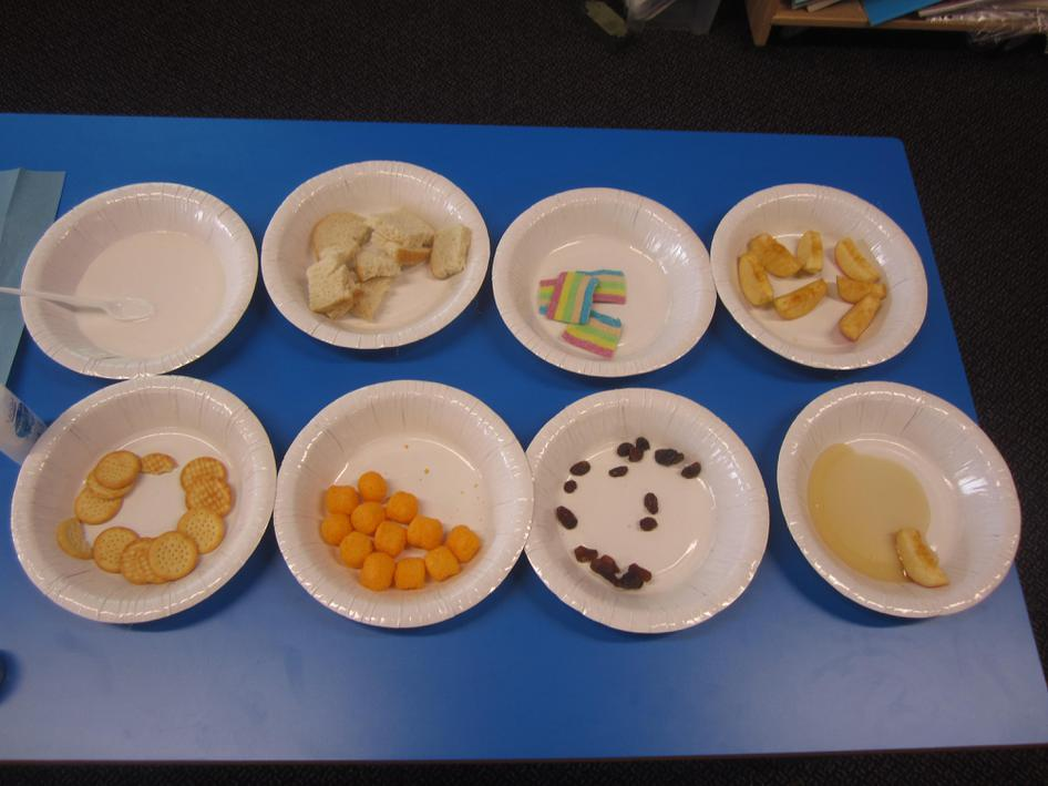 We sampled different foods.