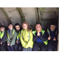Inside an air raid shelter