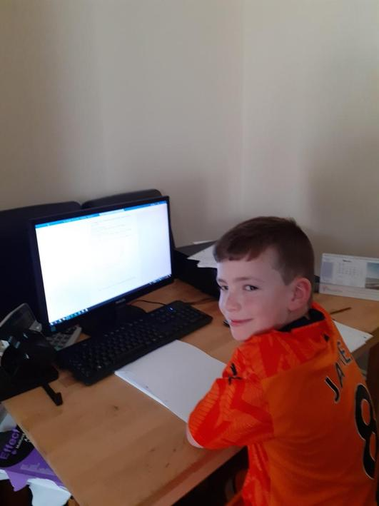 James hard at work completing the daily tasks.