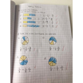 She has also been adding fractions.