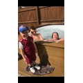 Corey-Lee in the hot tub
