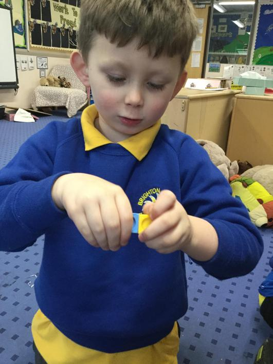 We used the cubes to count to 3.