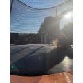 Doing flips on the trampoline