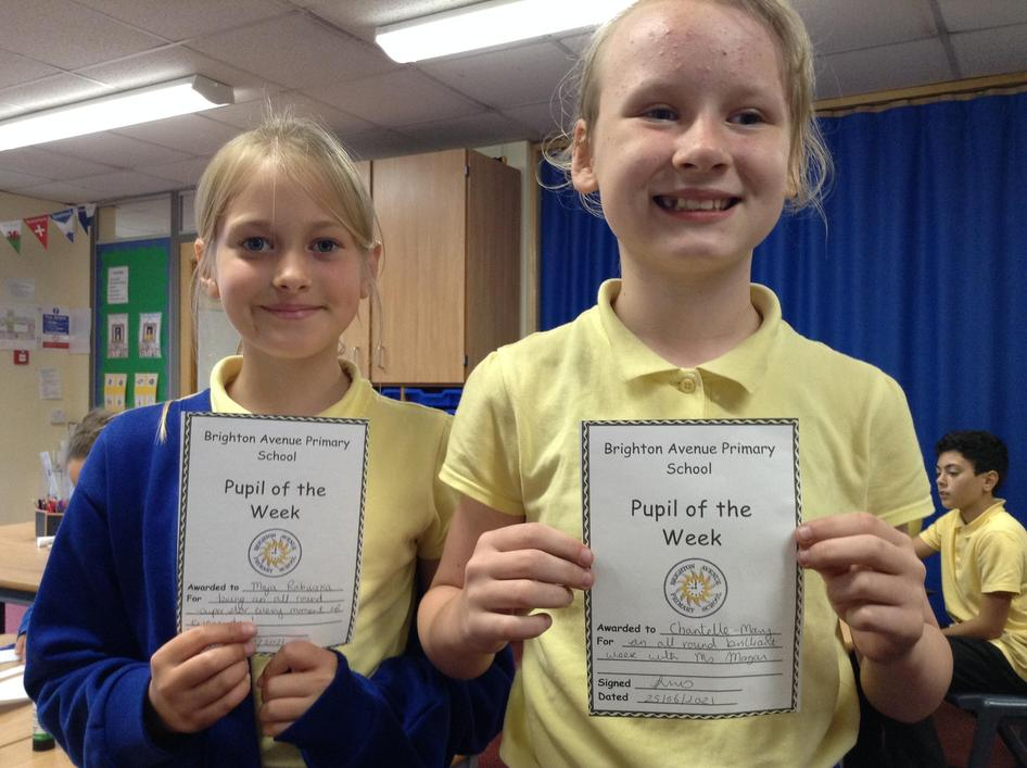 Maja and Chantelle-Mary have been absolute stars this week for Ms Morgan. Well done girls!