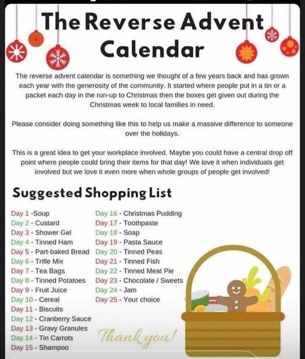 The Reverse Advent Calendar